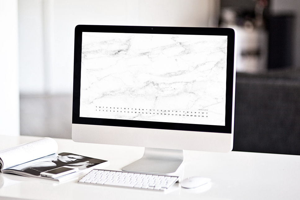 2016 - march - free wallpaper - marble - mockup - CHANCE